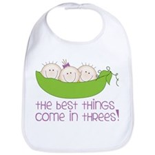 Come In Threes Bib