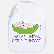Come In Threes Bib