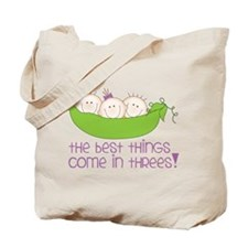 Come In Threes Tote Bag