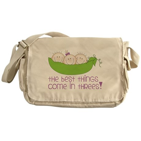 Come In Threes Messenger Bag