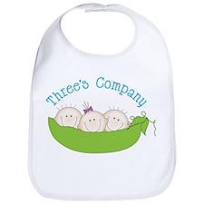 Threes Company Bib