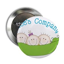 "Threes Company 2.25"" Button"