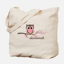 Custom Valentines Day owl Tote Bag