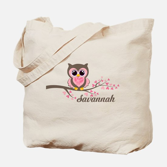 Custom Valentines Day owl Tote Bag
