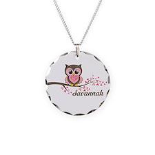 Custom Valentines Day owl Necklace