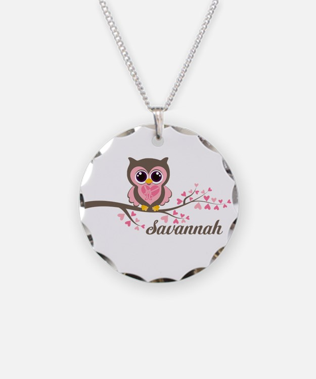Custom Valentines Day owl Necklace
