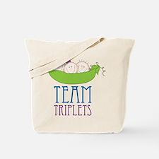 Team Triplets Tote Bag
