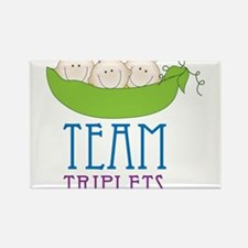 Team Triplets Rectangle Magnet