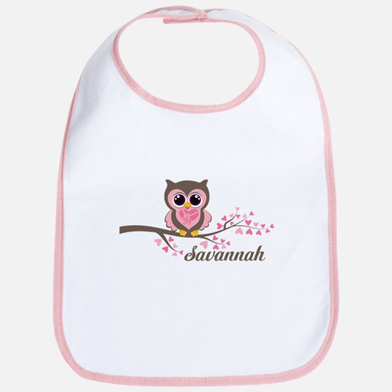 Custom Valentines Day owl Bib