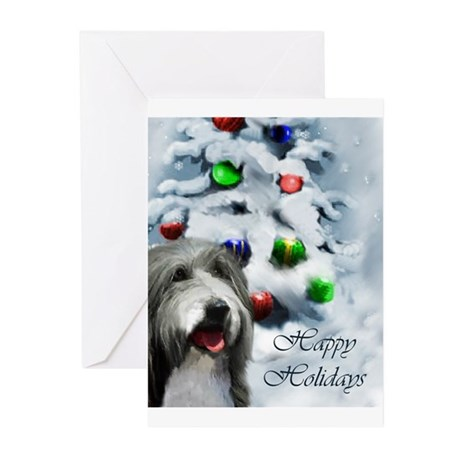 Bearded Collie Christmas Greeting Cards (Pk of 10)