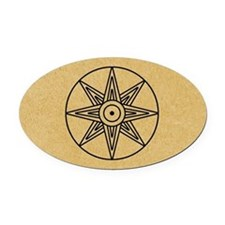 Inanna Star Oval Car Magnet