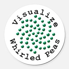 Visualize Whirled Peas 2 Round Car Magnet