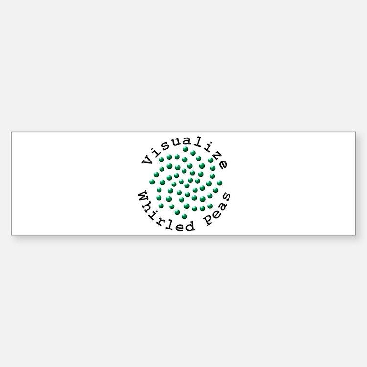 Visualize Whirled Peas 2 Bumper Bumper Sticker