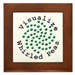 Visualize Whirled Peas 2 Framed Tile