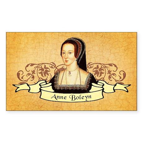 Anne Boleyn Sticker (Rectangle)