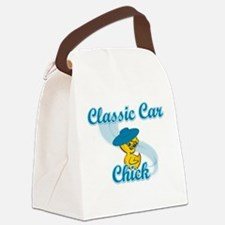 Classic Car Chick #3 Canvas Lunch Bag