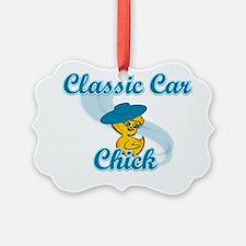 Classic Car Chick #3 Ornament