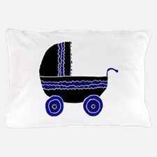 Black and Blue Stroller. Pillow Case