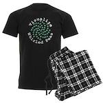 Visualize Whirled Peas 2 Men's Dark Pajamas