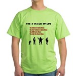 Four Stages of Life Green T-Shirt
