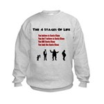 Four Stages of Life Kids Sweatshirt