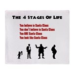 Four Stages of Life Throw Blanket