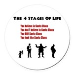 Four Stages of Life Round Car Magnet