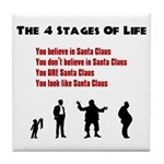 Four Stages of Life Tile Coaster