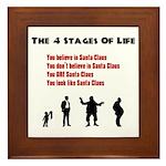 Four Stages of Life Framed Tile