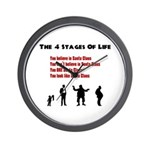 Four Stages of Life Wall Clock