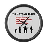 Four Stages of Life Large Wall Clock