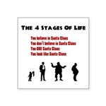 Four Stages of Life Square Sticker 3