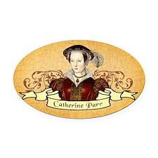 Catherine Parr Oval Car Magnet