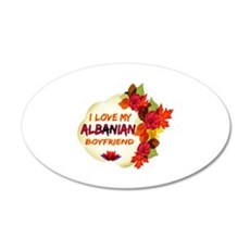 Albanian Boyfriend designs 20x12 Oval Wall Decal