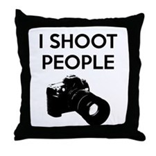 I shoot people - photography Throw Pillow