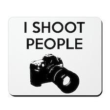 I shoot people - photography Mousepad