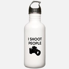 I shoot people - photography Water Bottle