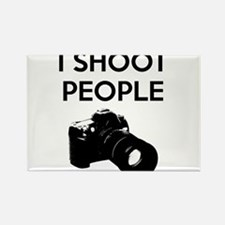 I shoot people - photography Rectangle Magnet