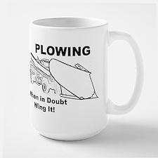 Snow Plowing Wing It Large Mug