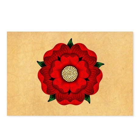 Red Rose Of Lancaster Postcards (Package of 8)