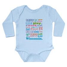 live dream Wisconsin Long Sleeve Infant Bodysuit