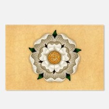 White Rose Of York Postcards (Package of 8)