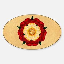 Tudor Rose Sticker (Oval)