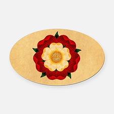 Tudor Rose Oval Car Magnet