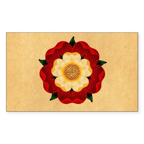 Tudor Rose Sticker (Rectangle)