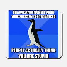 Socially Awkward Penguin Mousepad
