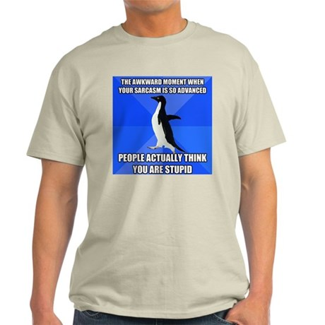 Socially Awkward Penguin Light T-Shirt