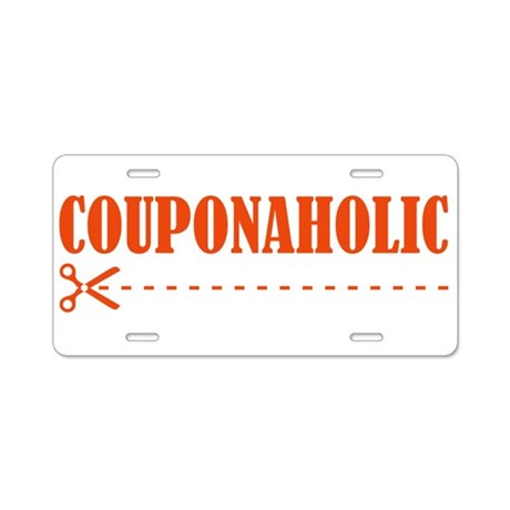 COUPONAHOLIC Aluminum License Plate