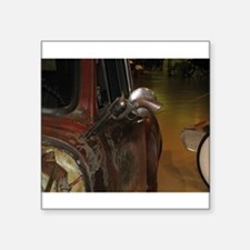 """Welded Gun Rat-Rod Truck Mirror Square Sticker 3"""""""
