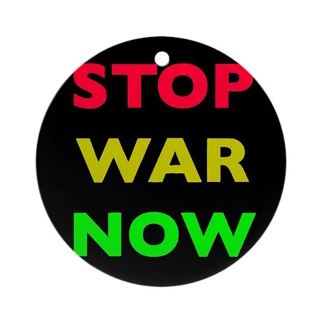Stop War Now e12 Ornament (Round)